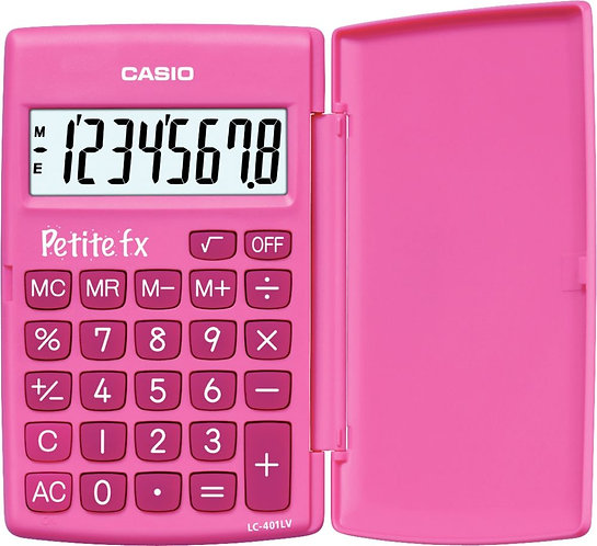 Calculatrice de poche CASIO 8 chiffres PETITE FX ROSE