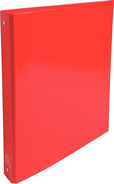 Classeur 4 anneaux ronds ø30 mm en carte pelliculée format A4 coloris rouge
