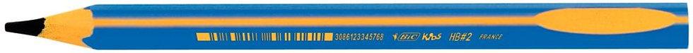 boîte de 12 crayons graphite d'apprentissage corps bleu