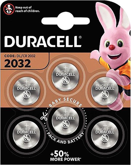 Blister de 6 piles lithium 3V CR2032 DURACELL