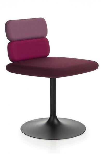 Chaise CLUSTY - 2 niveaux - Piétement platine