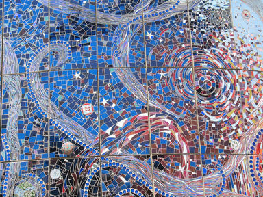 Mosaic wall SUNSET