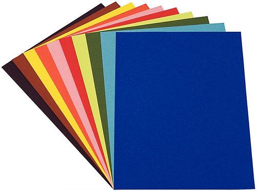 Paquet 24 feuilles papier dessin couleur 50x65cm 160g couleurs vives