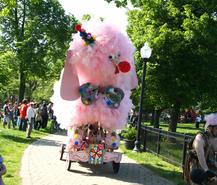 Fifi as a Clown in Federal Hill Park