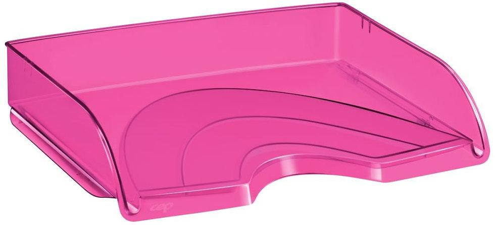 Corbeille à courrier à l'italienne transparent rose