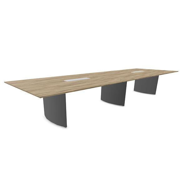 Table de conférence CEO L. 500 cm - Piétement Anthracite