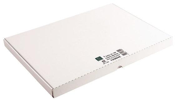 Boîte 100 fiches bristol non perforées carte forte 205g uni blanc 29,7x42cm