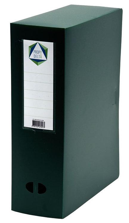 Boite de classement en polypropylène, dos 100 mm, coloris vert