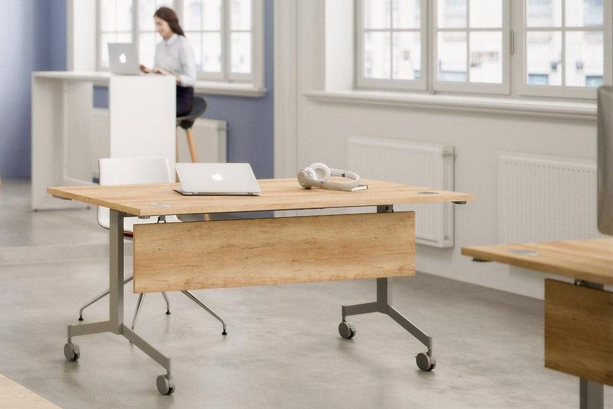 Table abattante EUGENIE - Piétement Gris Aluminium