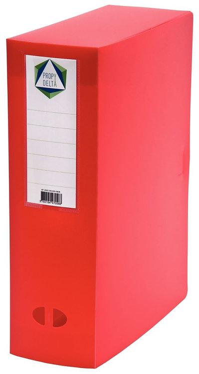Boite de classement en polypropylène, dos 100 mm, coloris rouge