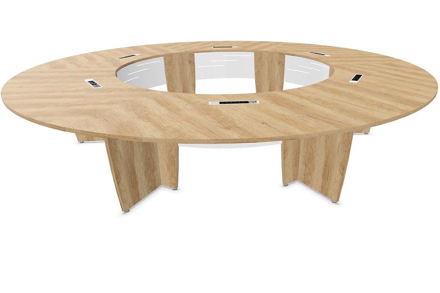 Table de conférence cercle MAGIC - Capacité 12 à 14 personnes