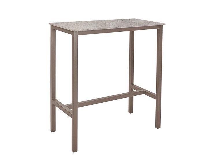Table haute SWEB - Plateau Ciment  - Piétement Taupe