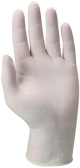 Boîte de 100 gants jetables en latex poudrés taille XL