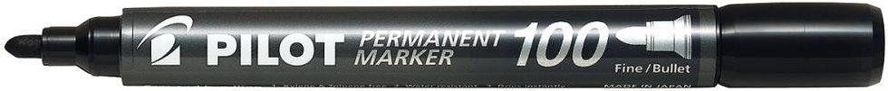 Marqueur permanent 100 pointe ogive noir