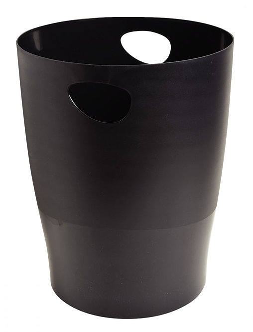 Corbeille à papier Ecobin noir 15L