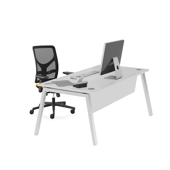 Table de bureau Porto - Piétement gris aluminium