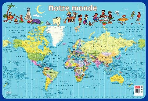 Poster Pédagogique en PVC 76x52cm - Thème Le Monde