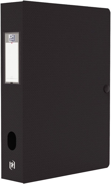 Boite de classement MEMPHIS en polypropylène, dos de 60 mm, coloris noir