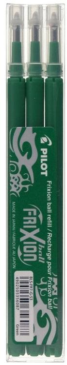 Etui de 3 recharges pour stylo Frixion vert