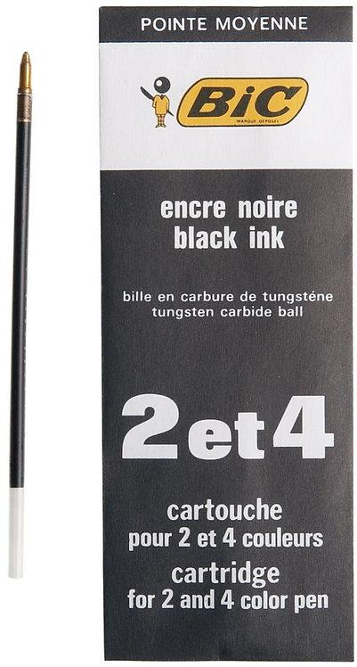 Recharge 2-4 couleurs pointe moyenne noir