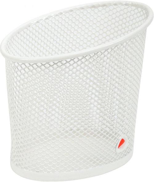 Pot à crayons en métal mesh blanc