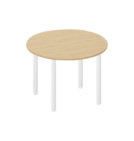 Table ronde Easy ø 120 cm - Piétement Blanc