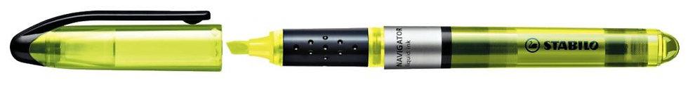 Surligneur de poche STABILO Navigator jaune