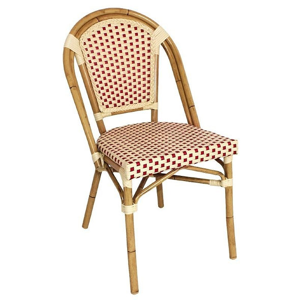 Chaise en rotin BRUNO - Lot de 4