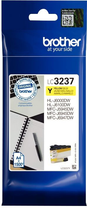 Cartouche d'encre Brother LC3237Y jaune haute capacité à la marque