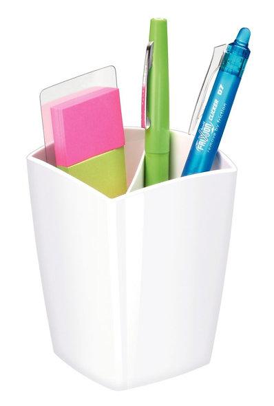 Pot à crayons 2 cases Cep pro gloss blanc arctique