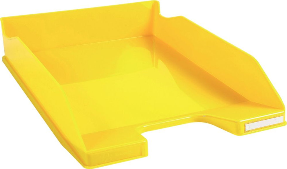 Corbeille à courrier A4+ jaune gloss