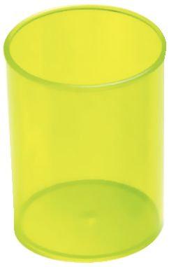 Pot à crayon rond diamètre 7cm Anis transparent