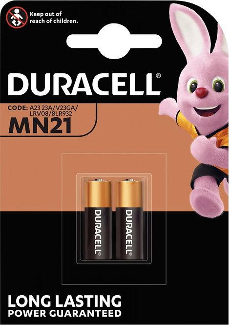 Blister 2 piles 12 volts. Référence A23 Alcaline Duracell