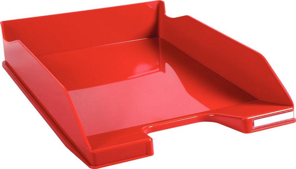 Corbeille à courrier A4+ rouge gloss