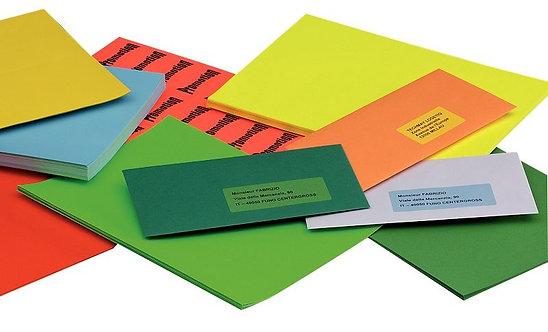 Boîte de 100 étiquettes couleurs A4 coloris bleu