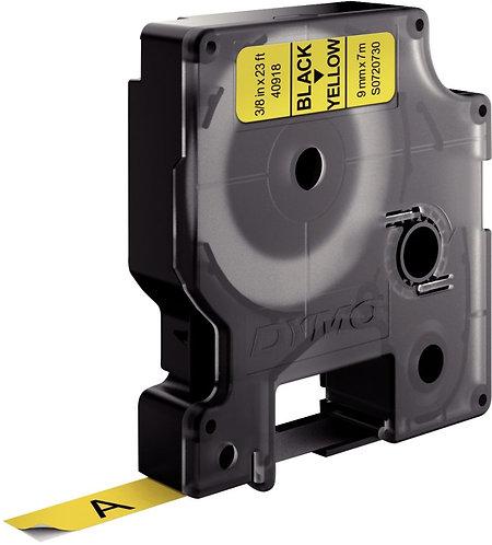 Ruban cassette Dymo 9 mm x 7 m noir et jaune