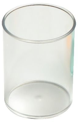Pot à crayons rond diamètre 7 cm Cristal transparent