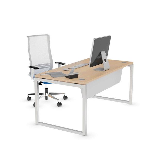 Table de bureau Challenge - Piétement Gris aluminium
