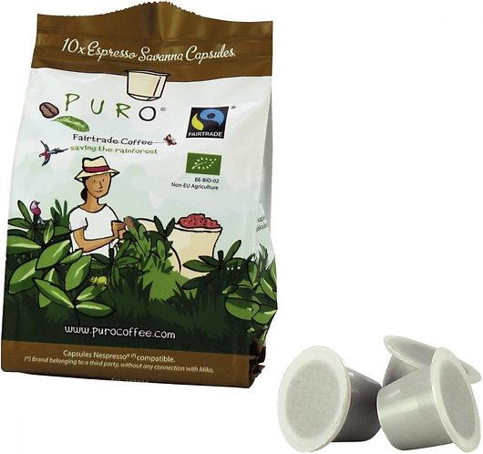 Boîte de 10 capsules nespresso médium PURO