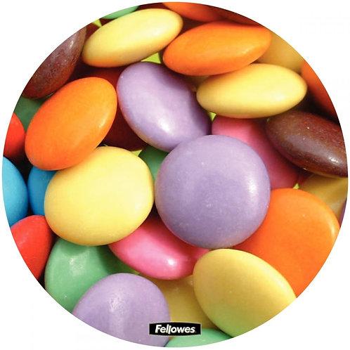 Tapis de souris rond en plastique dur décor bonbon