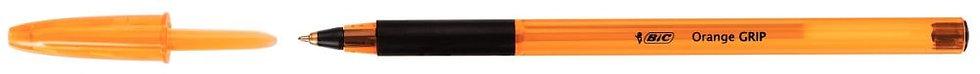 Stylo bille Bic Orange grip pointe fine noir
