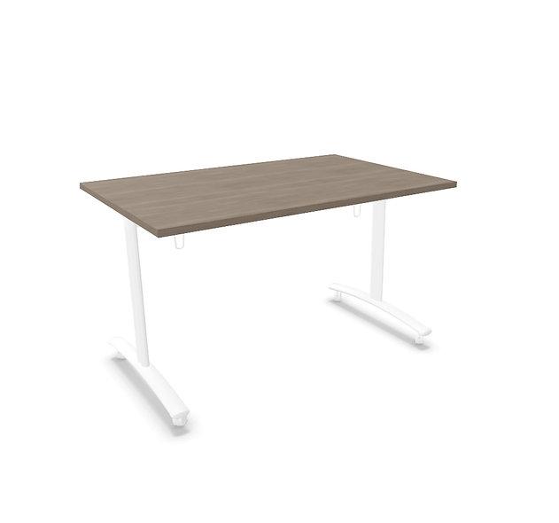 Table rectangulaire basculante Athena - Piétement blanc