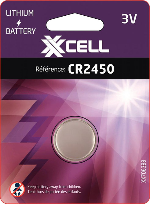 Blister 1 pile lithium CR2450 XXCELL
