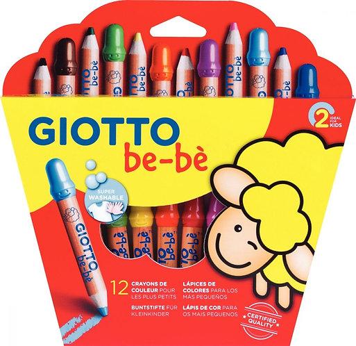Etui de 12 crayons maxi Bébé + 1 taille crayon