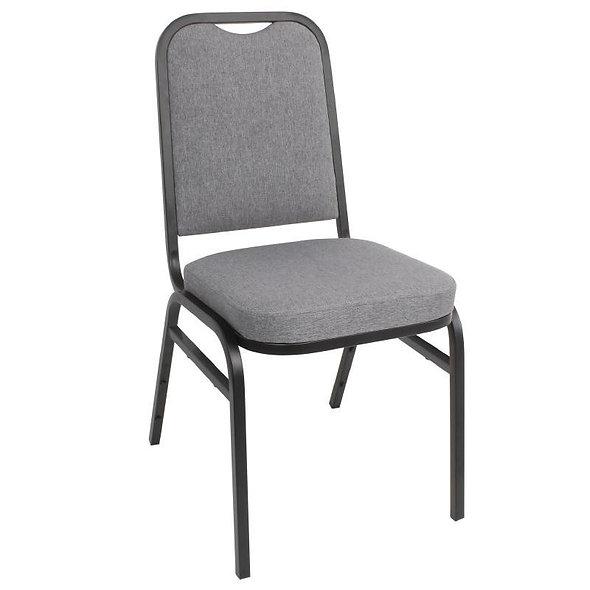 Lot de 4 chaises banquet dossier carré