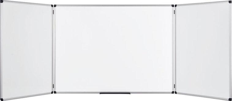 Tableau blanc triptyque émaillé 100x400cm