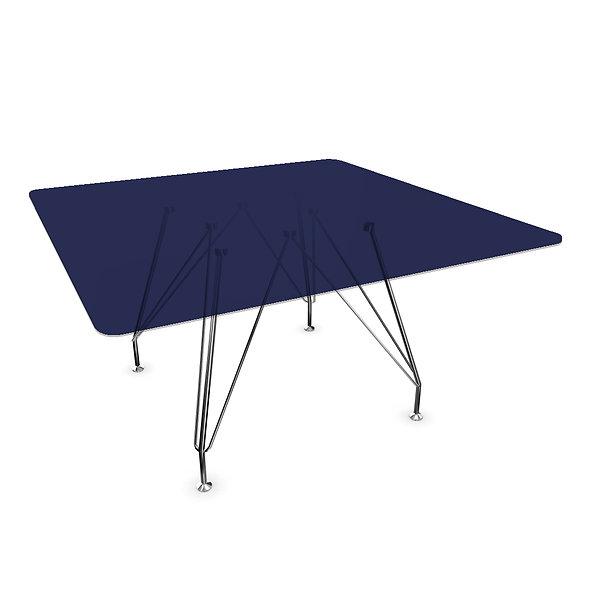 Table de réunion carrée NADKA - Plateau verre