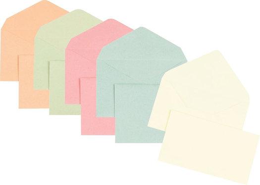 Boîte 1000 enveloppes couleurs assortie élection recyclées 90x140 75 g/m²