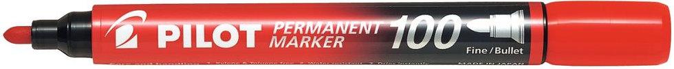 Marqueur permanent 100 pointe ogive rouge