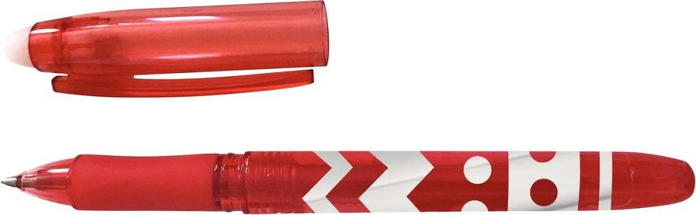 Stylo gel effaçable rouge